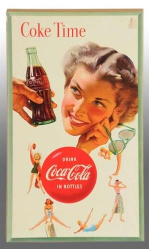 Cardboard Coca-Cola Vertical Poster.