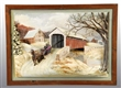 COVERED BRIDGE THREE DIMENSIONAL PICTURE.