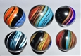 LOT OF 6: INDIAN MARBLES.