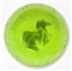 GREEN GLASS REARING HORSE SULPHIDE MARBLE.
