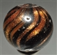 BLACK GLASS LUTZ MARBLE.