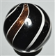 BLACK OPAQUE BANDED LUTZ MARBLE.