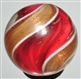 CRANBERRY RIBBON LUTZ SWIRL MARBLE.