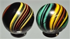 LOT OF 2: INDIAN MARBLES.