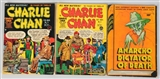 LOT OF 3: ANARCHO & CHARLIE CHAN COMIC BOOKS.