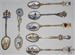 LOT OF 7: STERLING SILVER SPOONS.