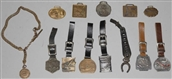 LOT OF 12: WATCH FOBS.