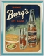 TIN OVER CARDBOARD BARQS ADVERTISING SIGN.