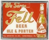 FELL BEER GLOGLAS REVERSE ON GLASS SIGN.
