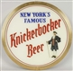 REVERSE ON GLASS KNICKERBOCKER BEER SIGN.