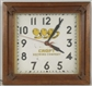 CROFT BREWING COMPANY WOODEN CLOCK.
