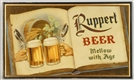 RUPPERT BEER LAMINATED WOOD SIGN.