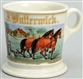 FARMER & HORSE PLOW SHAVING MUG.
