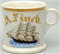 THREE MASTED SHIP SHAVING MUG.