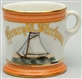SINGLE MASTED SAILING SHIP SHAVING MUG.
