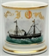 STEAM FREIGHTER SHIP SHAVING MUG.