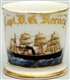 FOUR MASTED MOTOR SHIP SHAVING MUG.