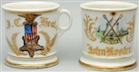LOT OF 2: FRATERNAL SHAVING MUGS.