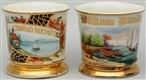 LOT OF 2: BOAT SHAVING MUGS.