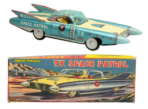 TIN LITHO FRICTION TV SPACE PATROL.