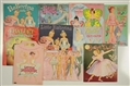 LOT OF 10: BALLET THEME PAPER DOLL SETS.