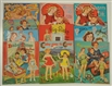 LOT OF 10: SISTER THEME PAPER DOLL SETS.
