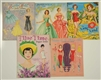 LOT OF 5: FASHION THEME PAPER DOLL SETS.