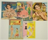 LOT OF 5: GLAMOUR THEME PAPER DOLL SETS.