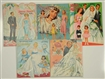 LOT OF 5: BRIDAL THEME PAPER DOLL SETS.