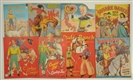 LOT OF 8: WESTERN THEME PAPER DOLL SETS.