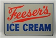 FREESERS ICE CREAM METAL SIGN.