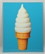 ICE CREAM CONE TWO SIDED TIN SIGN.
