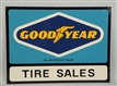 GOODYEAR TIRE TWO SIDED SIGN.