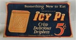 ICY PI ADVERTISING PAPER SIGN.