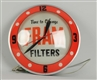 FRAM OIL FILTERS ELECTRIC CLOCK.