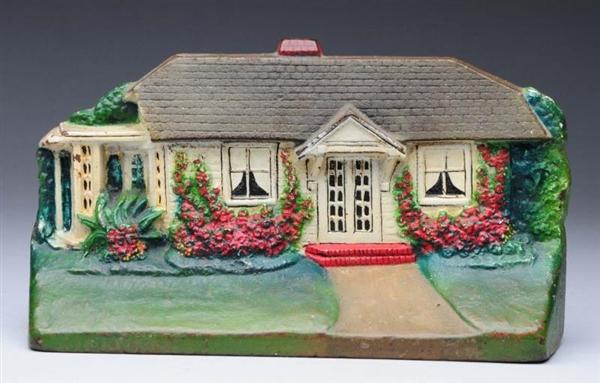 Lot #15 Cast Iron Cottage Doorstop & Lot Detail - Cast Iron Cottage Doorstop