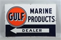GULF MARINE PRODUCTS SSP ROLLED EDGE SIGN.