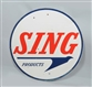 SING PRODUCTS DOUBLE SIDED PORCELAIN SIGN.