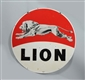 LION DOUBLE SIDED PORCELAIN IDENTIFICATION SIGN.