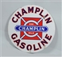 CHAMPLIN GASOLINE OILS DOUBLE SIDED PORCELAIN SIGN