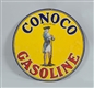 CONOCO GASOLINE DOUBLE SIDED PORCELAIN SIGN.