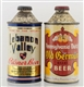 LOT OF 2: LEBANON VALLEY CONE TOP IRTP BEER CANS.