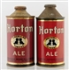 LOT OF 2: HORTON ALE CONE TOP BEER CANS IRTP.