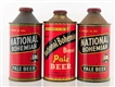LOT OF 3: NATIONAL BOHEMIAN CONE TOP BEER CANS.