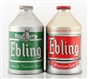 LOT OF 2: EBLING CROWNTAINER CONE TOP BEER CANS.