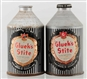 LOT OF 2: GLUEKS STITE CROWNTAINER BEER CANS.
