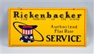 RICKENBACKER AUTHORIZED SERVICE TOP HAT LOGO SIGN.