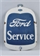 FORD SERVICE DOUBLE-SIDED PORCELAIN SHAPED SIGN.