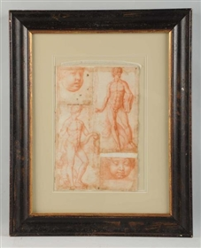 17TH CENTURY OLD MASTER DRAWING.