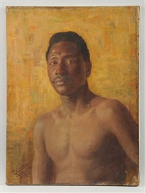 PORTRAIT OF AFRO AMERICAN MAN 1916.